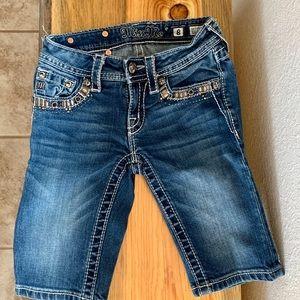 Miss Me Bermuda shorts - girls size 8